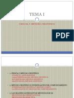 Funbdamentos II Tema 1 Ciencia y método científico