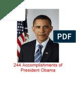 244 Accomplishments of President Obama