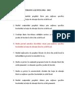 Tematica Licenta 2014-2015