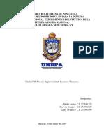 Proceso de Provisión de Recursos Humanos - Trabajo 3