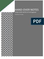 Handover Notes - CSL Argosy - 3rdEng - Aug2010
