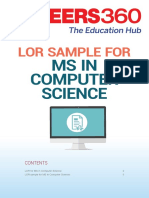 LOR for MS in Computer Science