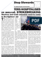 NSSN leaflet supporting the FBU