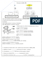Atividade de Lingua Portuguesa
