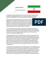 Irani Delegation