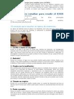 Consejos Para Estudiar Para El ENES