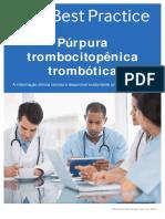 Púrpura trombocitopência trombótica