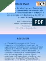 Auditoría Del Rubro Ingresos – Cuentas Por Cobrar