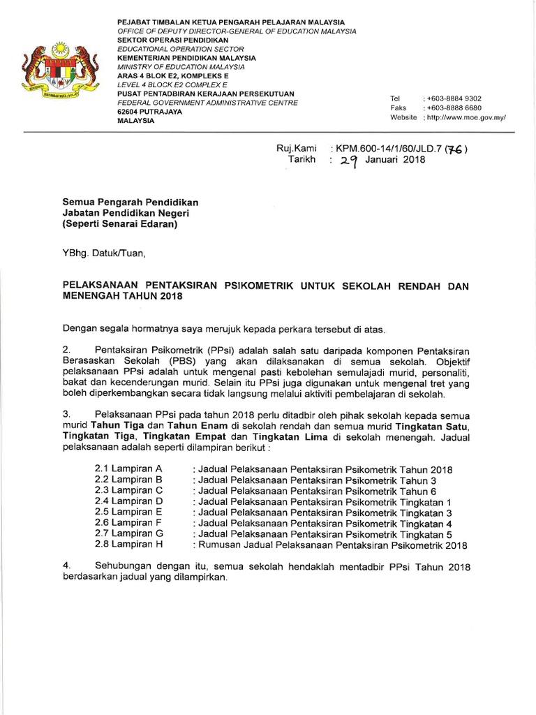 Surat Ppsi Tahun 2018 Pdf