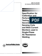 AWS A10.1M-2007 Calibration and Performance Testing of Secondary Current Sensing Coils and Weld .pdf