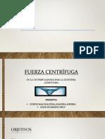 fuerza centrifuga
