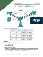 3.2.1.4 Lab - Configuring EtherChannel.docx