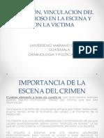 Analisis Vinculacion Victima, Sospechoso y Escena