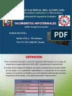 YACIMIENTO HIPOTERMAL