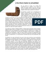 39291012 Resumen de La Historia de La Escritura