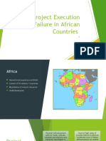 Project Execution Failure in African Countries