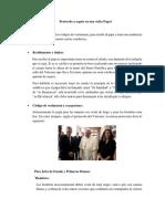 Protocolo a Seguir en Una Visita Papal.