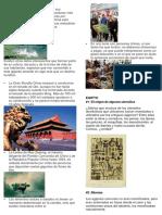 Cosas de China, India y Egipto