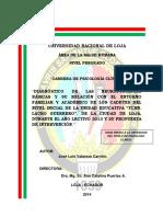 TESIS DIAGNOSTICO DE LAS NEUROFUNCIONES BASICAS Y SU RELACION CON EL ENTORNO FAMILIAR Y ACEDEMICO DE LO.pdf