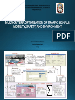 Multi-criteria Optimization of Traffic Signals