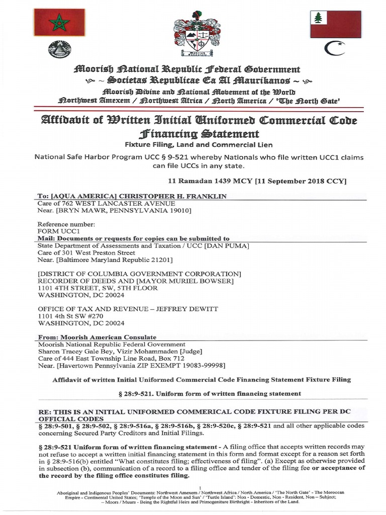 Macn-r000000010_affidavit of Ucc1_aqua America - Aqua Pennsylvania