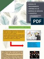 Manual de Procedimiento Contable de Un Empresa de Servicios