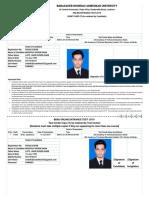 Bbau.admit Card
