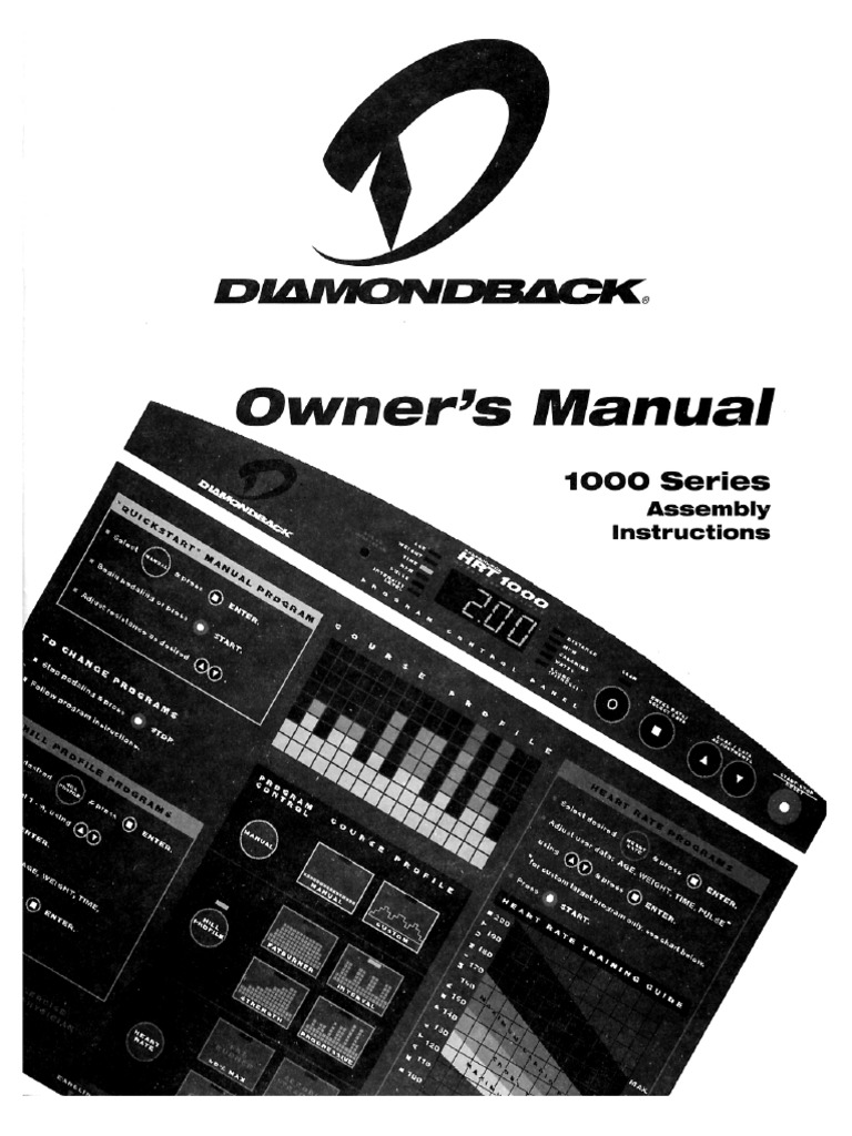 Diamondback 1000 Series Exercise Bike Manual