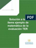 Solucion Items Mate TER-B
