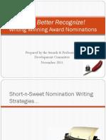 Writing-Winning-Award-Nominations-November-2011_FINAL.pptx