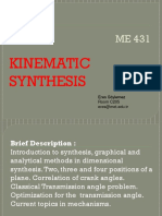 Kinematics synthesis