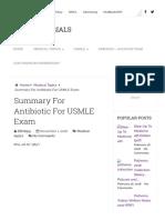 Summary for Antibiotic for USMLE Exam _ USMLE Materials