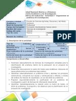 Guía de actividades y rúbrica de evaluación - Actividad 2-Argumentar un problema de investigación..docx