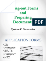 Filling-out Forms and Preparing Documents