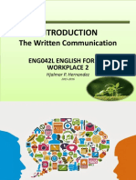 3_Introduction to the Written Communication