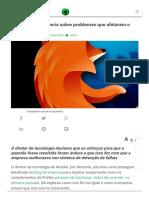 Mozilla Se Pronuncia Sobre Problemas Que Afetaram o Firefox
