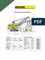 Espesificaciones Tecnicas y Medidas XPB