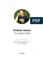 10 Brain Hacks to Learn Fast With Jim Kwik - Workbook