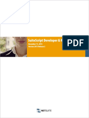 SuiteScript Developer and Reference Guide 15 2 pdf