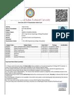 Admit Card 2018-19 Odd-Sem