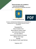 Proyecto de Inv. Geología de Minas