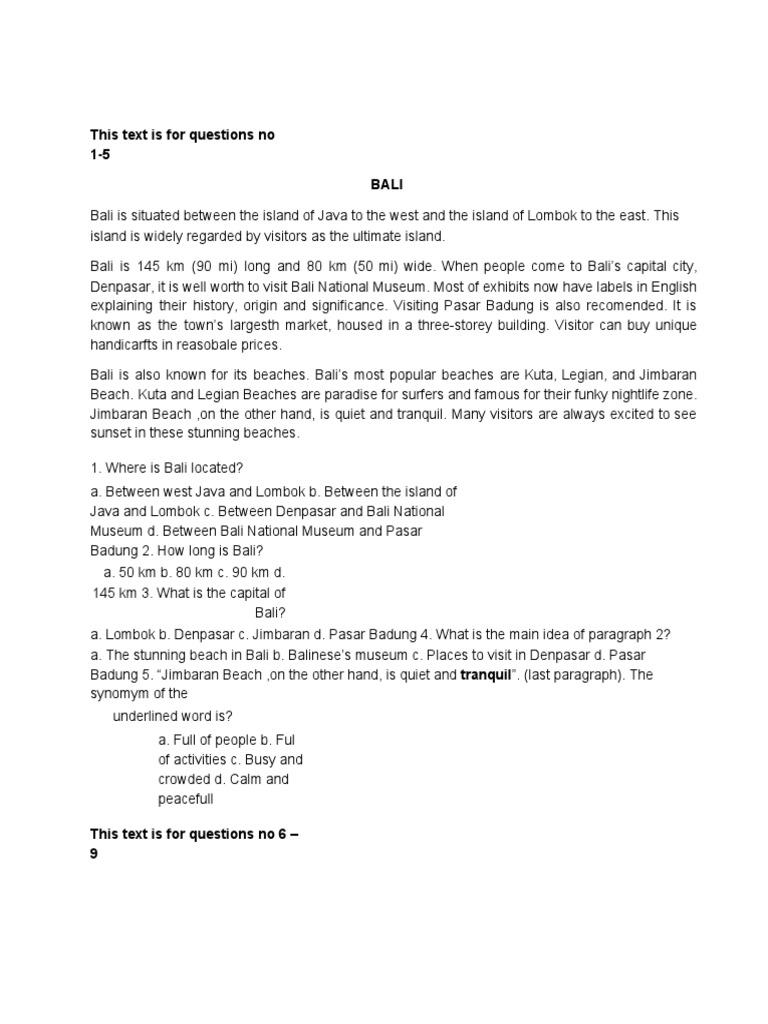 Soal Ukk b Inggris Kelas 8 Ktsp