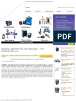 General Description and Weldability of Ferrous Metals, Welding Positions, We