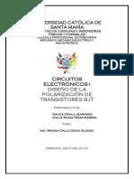 INFORME DE CIRCUITOS ELECTRONICOS-DISEÑO DE LA POLARIZACION DE TRANSISTORES.docx