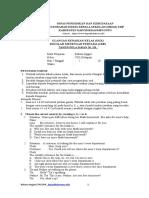 Soal UKK Bahasa Inggris Kelas VIII Dapodikdasmen.info