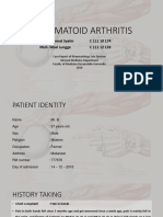 Rheumatoid Arthritis Lapsus
