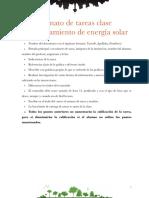 Formato de tareas Almacenamiento de energía solar