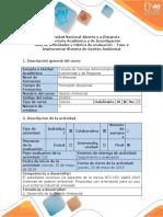 Guía de actividades y rúbrica de evaluación - Fase 4 - Implementar el Sistema de Gestión Ambiental.docx