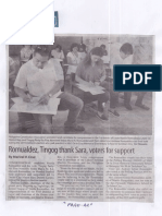 Manila Standard, May 14, 2019, Romualdez, Tingog thank Sara, voters for support.pdf