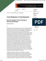 Stiegler From Biopower to Psychopower